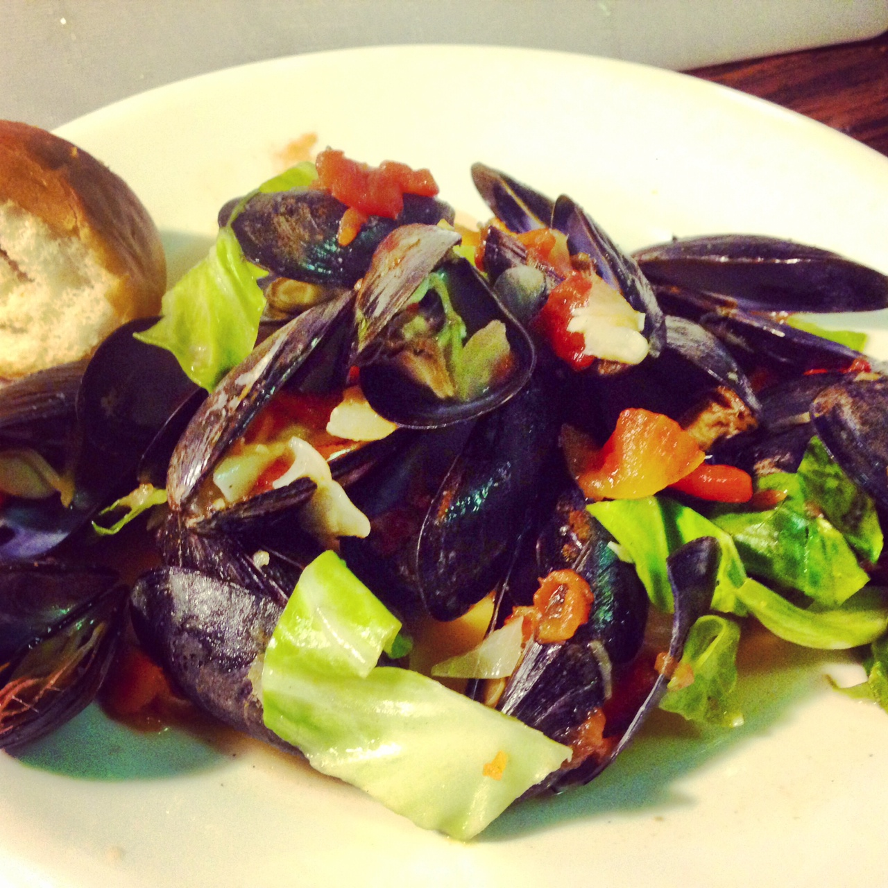 Mussels in Miso Ginger Broth